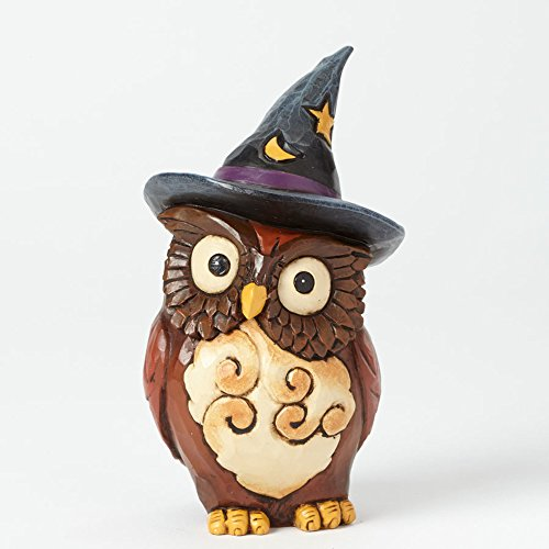 Jim Shore Heartwood Creek Halloween Owl Witch
