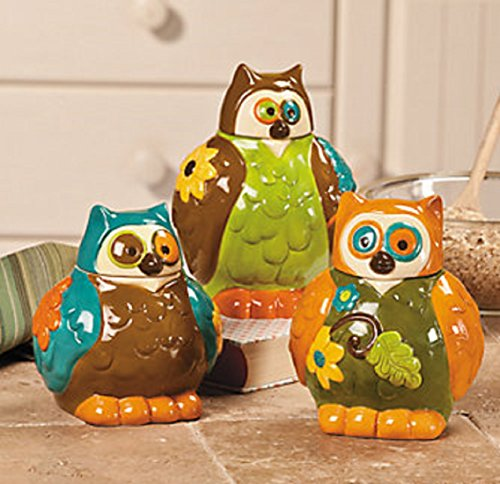Vibrant Owl Canister Jars To Take Your Kitchen Decor To The Next Level