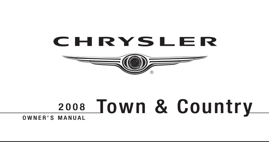 2008 Chrysler Town and Country Owner's Manual [Sign Up