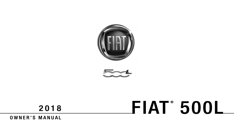 2018 Fiat 500L Owner's Manual [Sign Up & Download