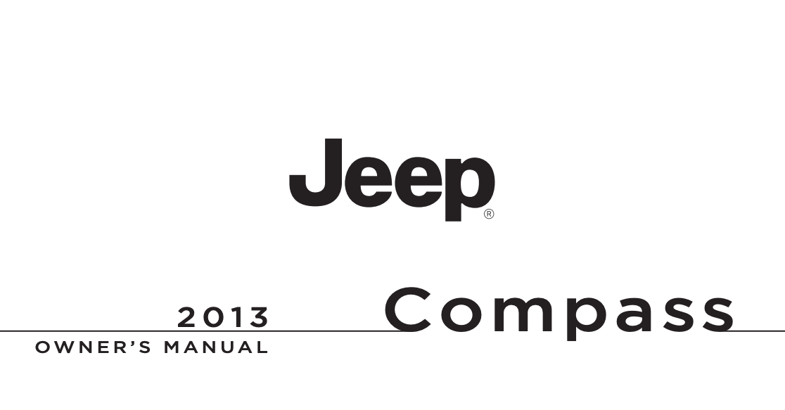 2013 Jeep Compass Owner's Manual [Sign Up & Download