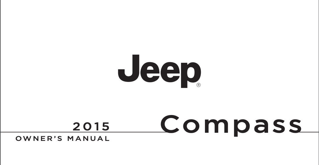 2015 Jeep Compass Owner's Manual [Sign Up & Download