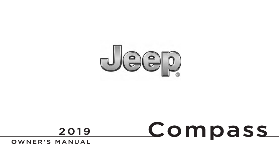 2019 Jeep Compass Owner's Manual [Sign Up & Download