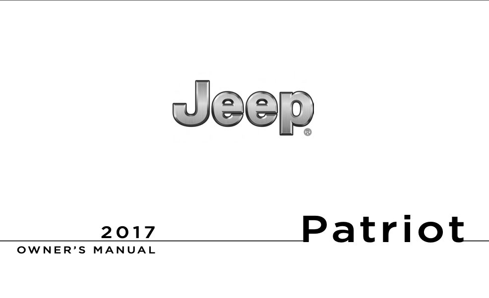 2017 Jeep Patriot Owner's Manual [Sign Up & Download