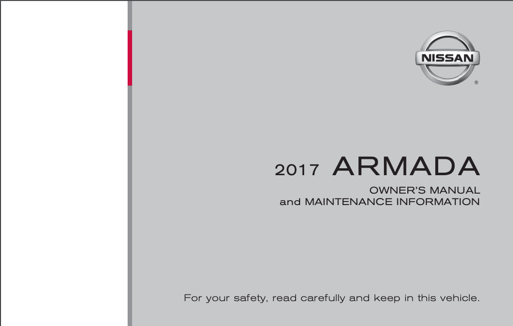 2017 Nissan Armada Owner's Manual and Maintenance