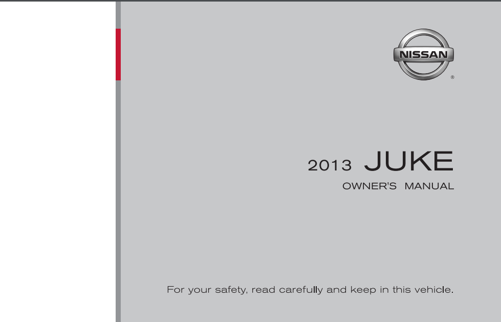 2013 Nissan Juke Owner's Manual and Maintenance