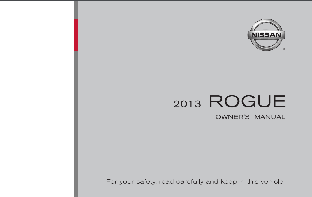 2013 Nissan Rogue Owner's Manual [Sign Up & Download