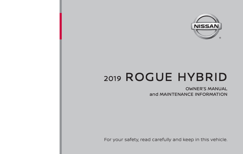 2019 Nissan Rogue Hybrid Owner's Manual and Maintenance