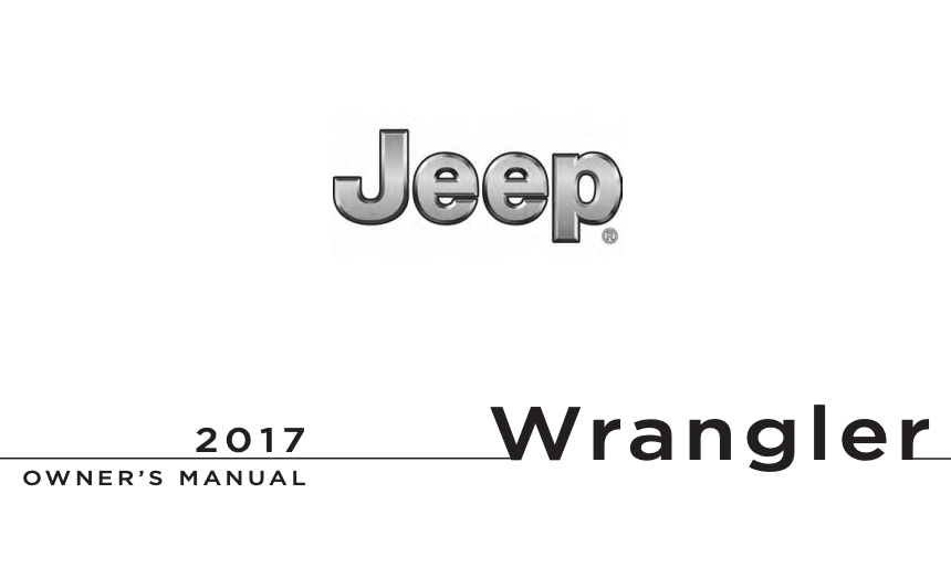 2017 Jeep Wrangler Unlimited Owner's Manual [Sign Up