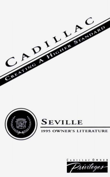 1995 Cadillac Seville Owners Manual [Sign Up & Download