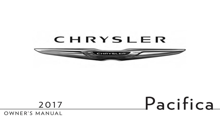 2017 Chrysler Pacifica Owner's Manual [Sign Up & Download
