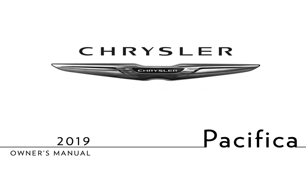 2019 Chrysler Pacifica Owner's Manual [Sign Up & Download