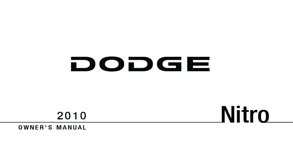2010 Dodge Nitro Owners Manual [Sign Up & Download