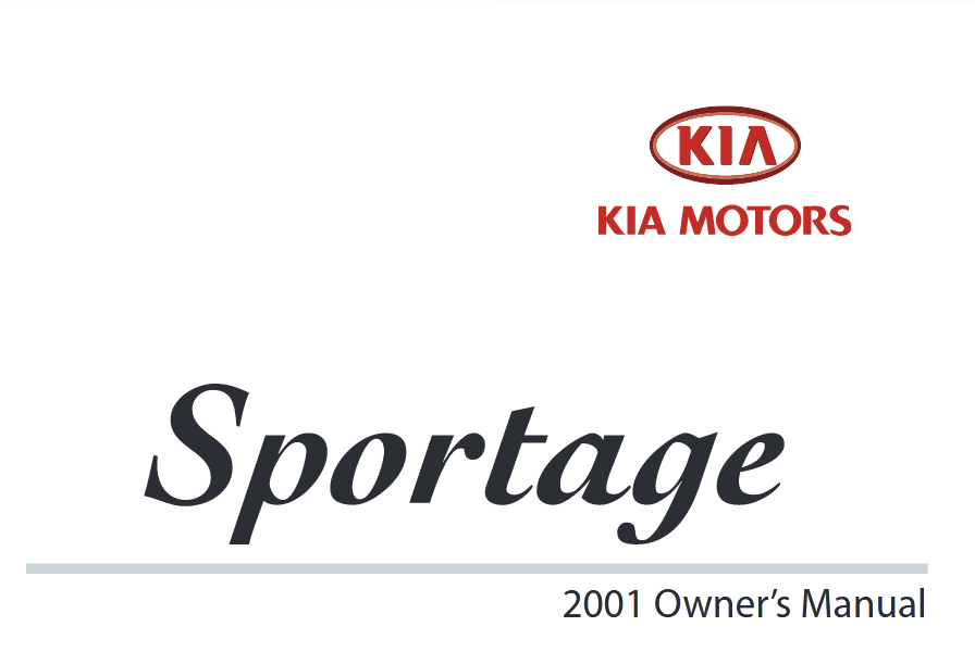 Download 2001 Kia Sportage Owners Manual [Sign Up