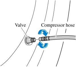 Insert the compressor plug into the interior accessory