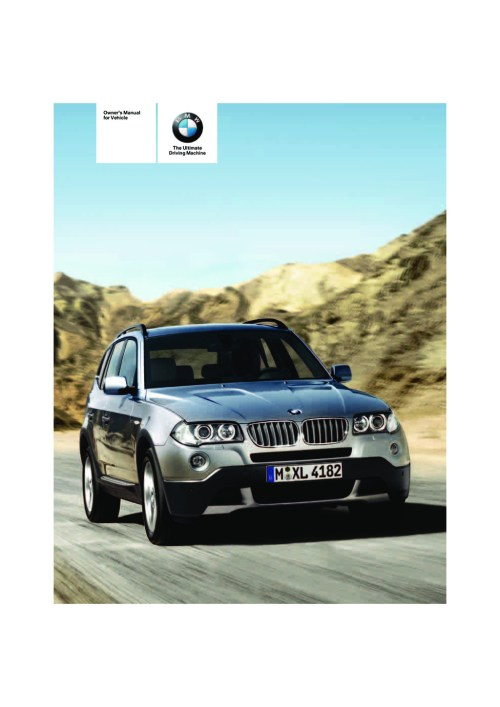 small resolution of 2007 bmw x3 owner s manual
