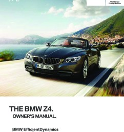 2016 bmw z4 owner s manual [ 1748 x 2480 Pixel ]