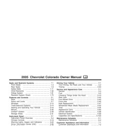 2005 chevrolet colorado owner s manual [ 2550 x 3300 Pixel ]