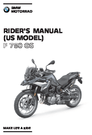 2021 BMW Motorrad F 750 GS – Owner's Manual – 308 Pages