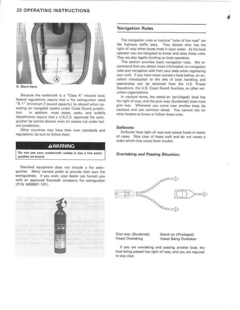 1993 Kawasaki Jet Ski 750 SS – Owner's Manual – Page #24