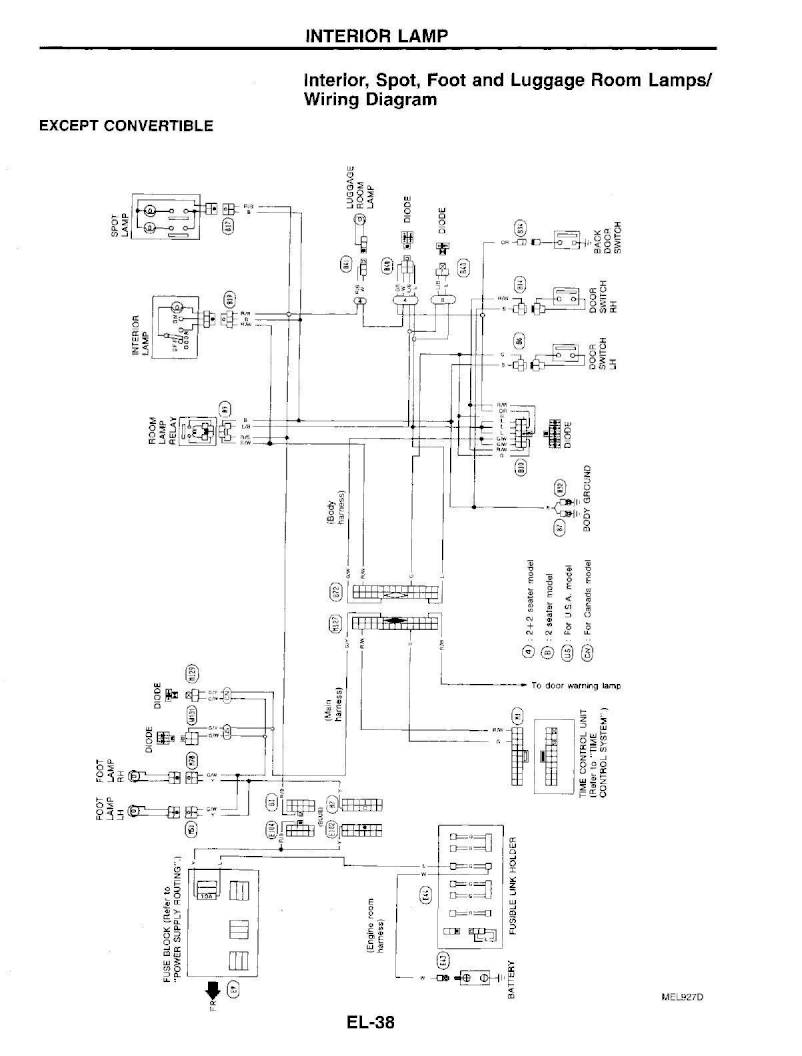 hight resolution of 1995 nissan 300zx repair manual electrical system section el page 38 pdf