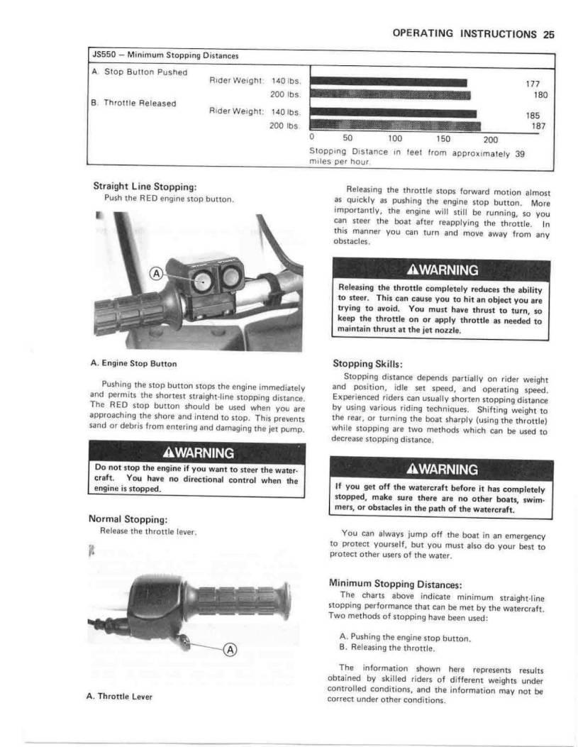 1990 Kawasaki Jet Ski 550 SX – Owner's Manual – Page #27