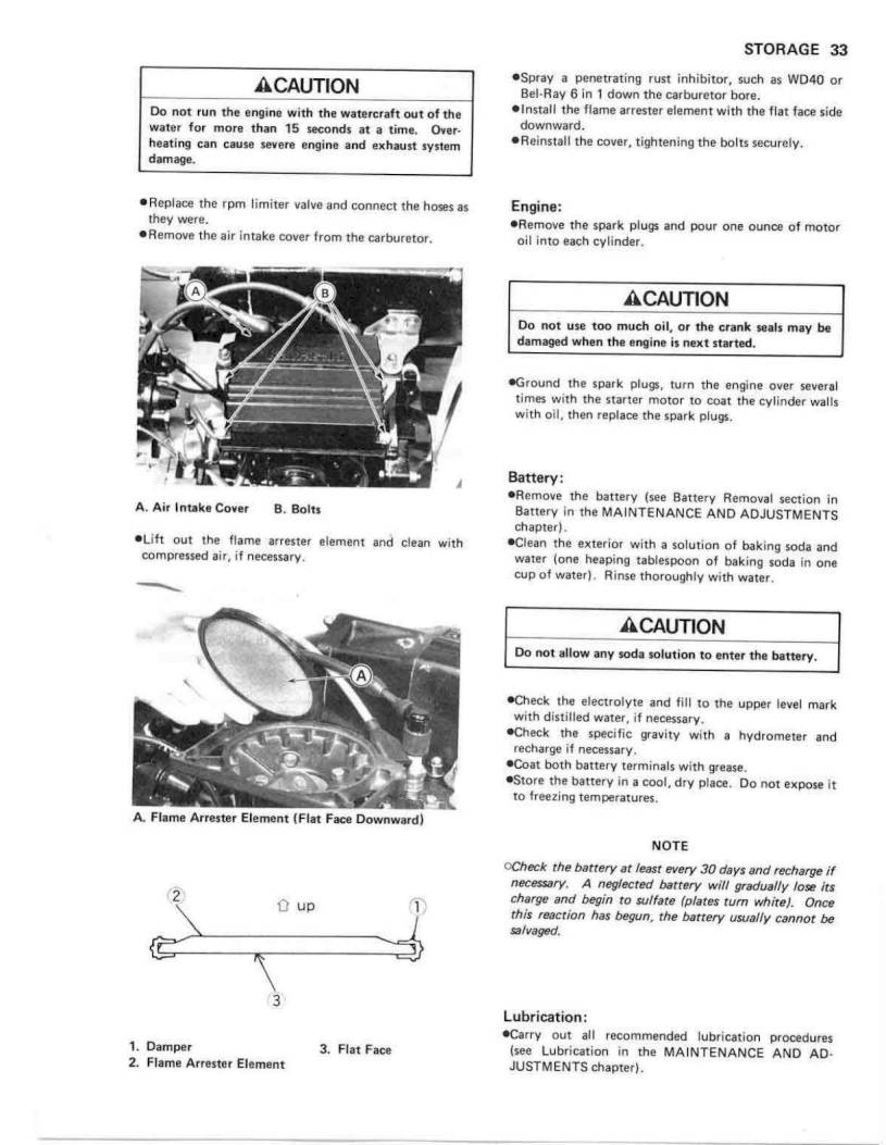 1990 Kawasaki Jet Ski 550 SX – Owner's Manual – Page #35
