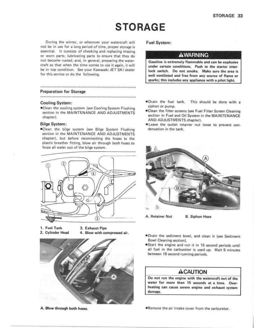 1990 Kawasaki Jet Ski 650 SX – Owner's Manual – Page #35