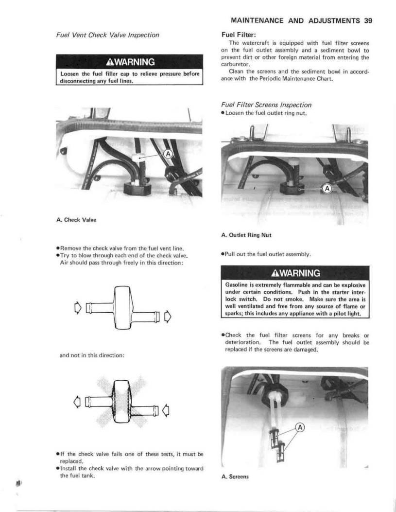 1990 Kawasaki Jet Ski TS – Owner's Manual – Page #41