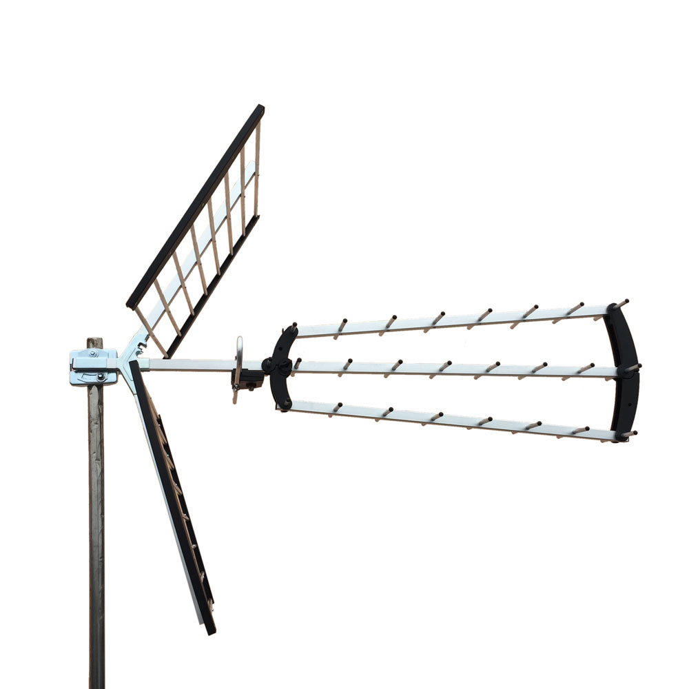 HDTV Outdoor Amplified Antenna HD TV 13dB Rotor Remote 360