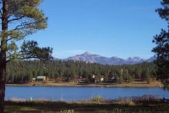 Lake Pagosa Park lake view