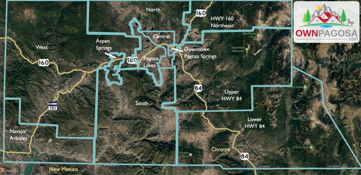 Pagosa archuleta neighborhood map