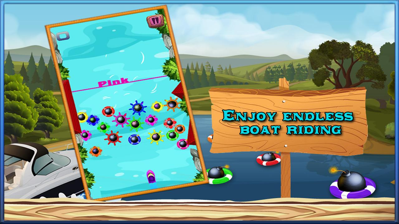 River Rush – Guide your boat and avoid the bombs