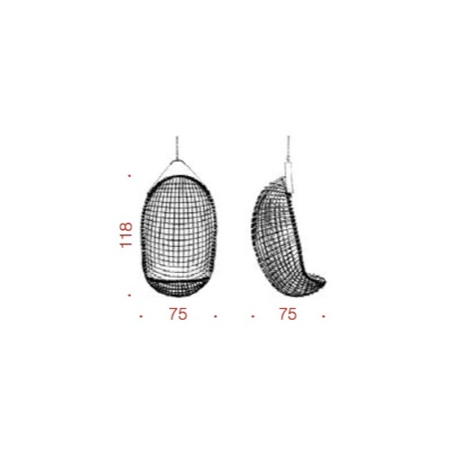 dimension eureka hanging chair bonacina
