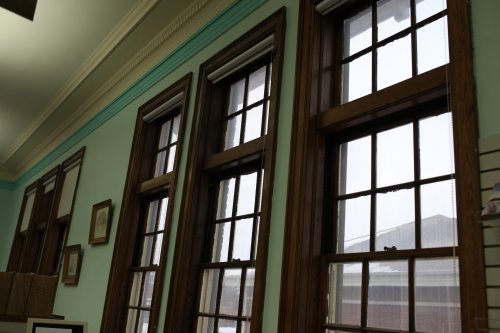 the library windows