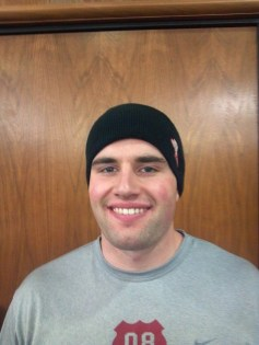 John Rux. Benzing and Rux both won the weight throw at Wooster's track quad on Jan. 28.