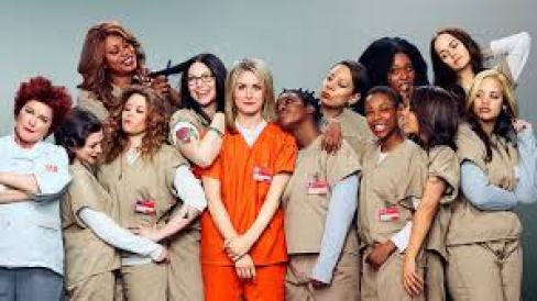 "The cast of the first season of the popular Netflix show ""Orange is the New Black."""