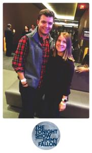 Photo taken by NBC Studios. Since we weren't allowed to take photos while waiting for the show to start, or during the show, employees of NBC Studios took this photo of me and my boyfriend.