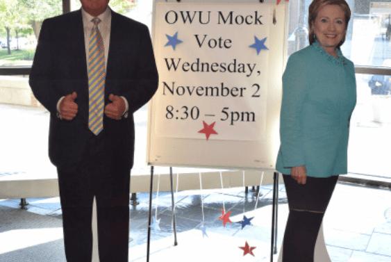 OWU's mock vote falls flat