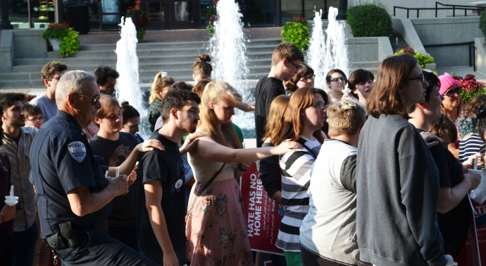 Students host rally in response to Charlottesville attacks