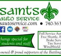 Saint's Auto Service ad