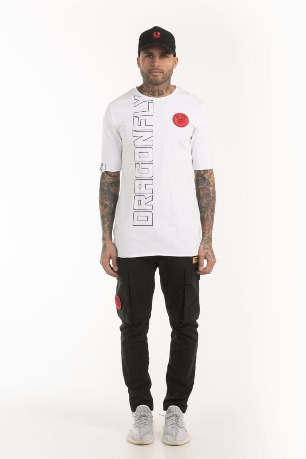 ROPONGI SS TEE 001 white once we were warriors