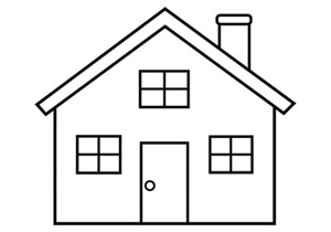 line drawing coloring simple clipart colorings homes