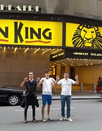 """Students recreating the Broadway play """"The Lion King."""""""