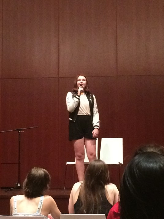 girl singing talent show