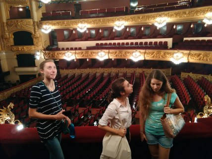 Inside the main auditorium of the Liceu.