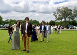 A break during Polo match