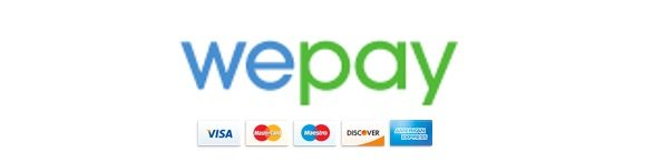 WePay, accepting all major credit cards