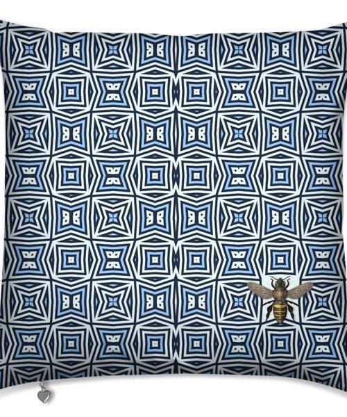 kaleidoscope white blue