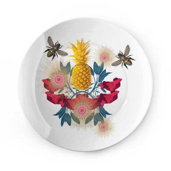 Plate Yellow Pineapple